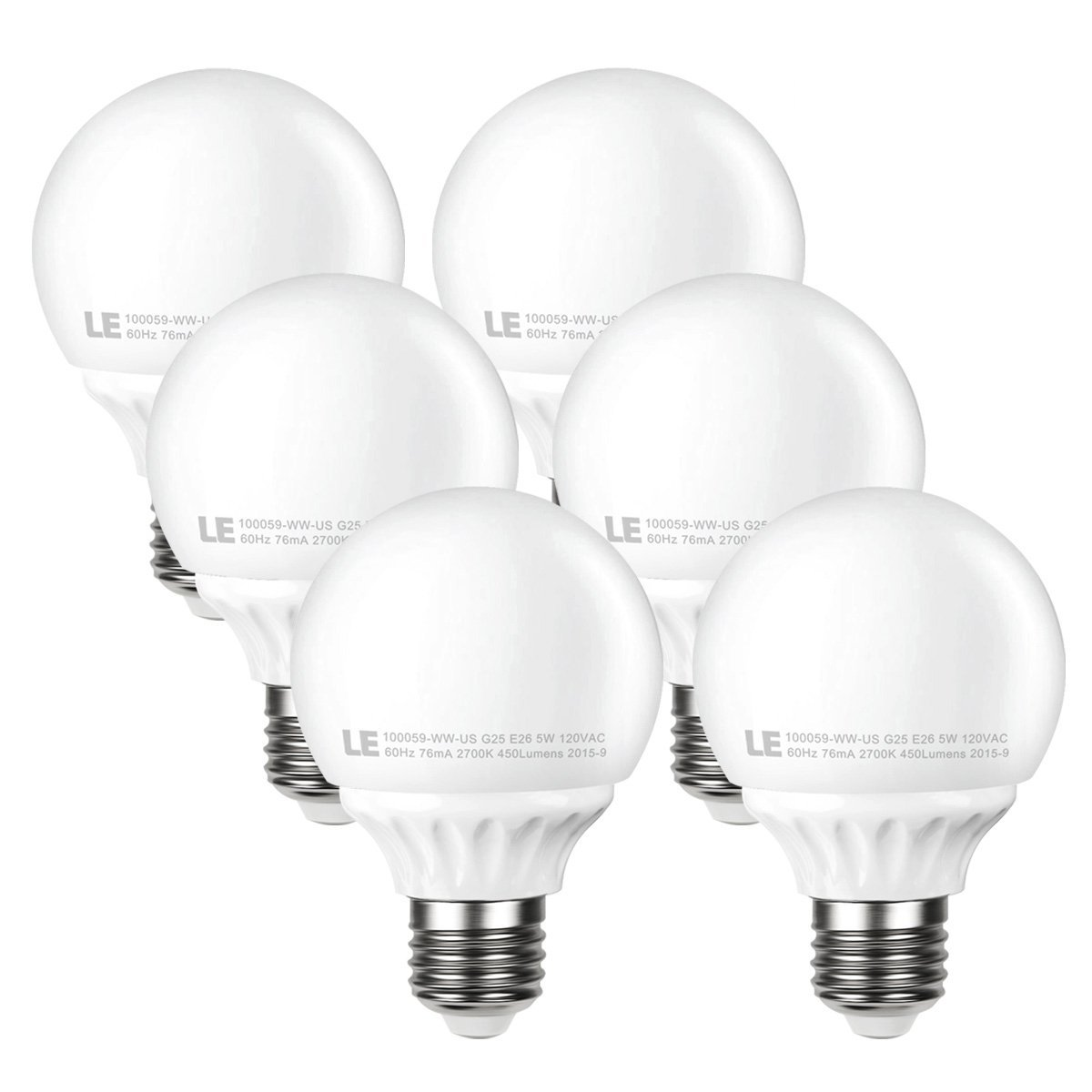 le 5w g25 e26 led bulbs 40w incandescent bulb equivalent not dimmable 450lm ebay. Black Bedroom Furniture Sets. Home Design Ideas