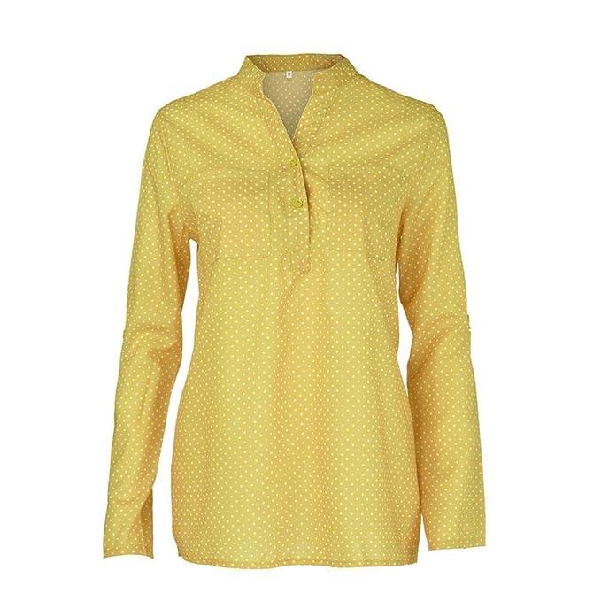 Moda Camisa Mujer Otoño Blusa de Encaje sólido Sudaderas Sin Capucha Manga Larga Suéter Capa con