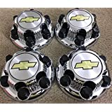 "Replacement Part: Set of 4 Chrome Chevy Silverado 6 Lug 1500 Center Caps 16"" 17"" Steel wheels"
