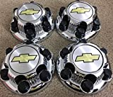 16 chevy chrome rims - REPLACEMENT PART: Set of 4 Chrome Chevy Silverado 6 Lug 1500 Center Caps 16
