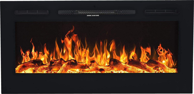 Chemin/ée /électrique Majestic Chemin/ée /électrique Chemin/ée murale profondeur seulement 14 cm | simulation de feu LED 66 x 42 x 12 750 W ou 1500 W