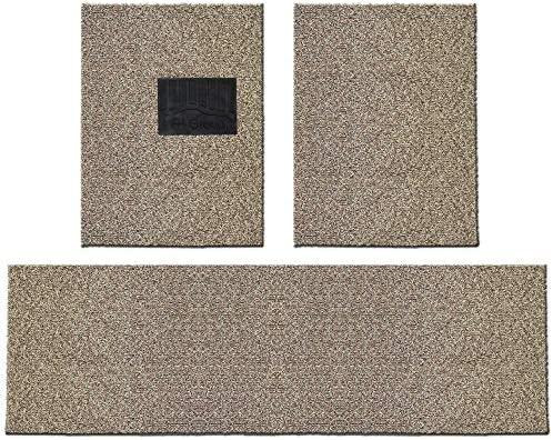FH12021 Universal Waterproof Car Floor Mats, Trim to Custom fit All-Season Heavy-Duty Durable Thick, Soft, Comfortable and Easy Clean (Beige)
