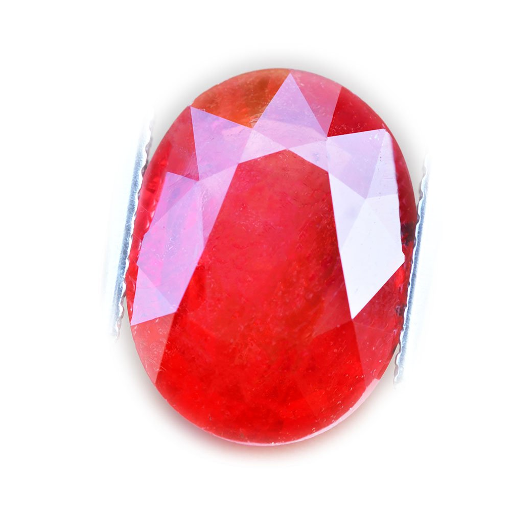6.39ct Natural Oval Orange Sapphire Songea Tanzania #W
