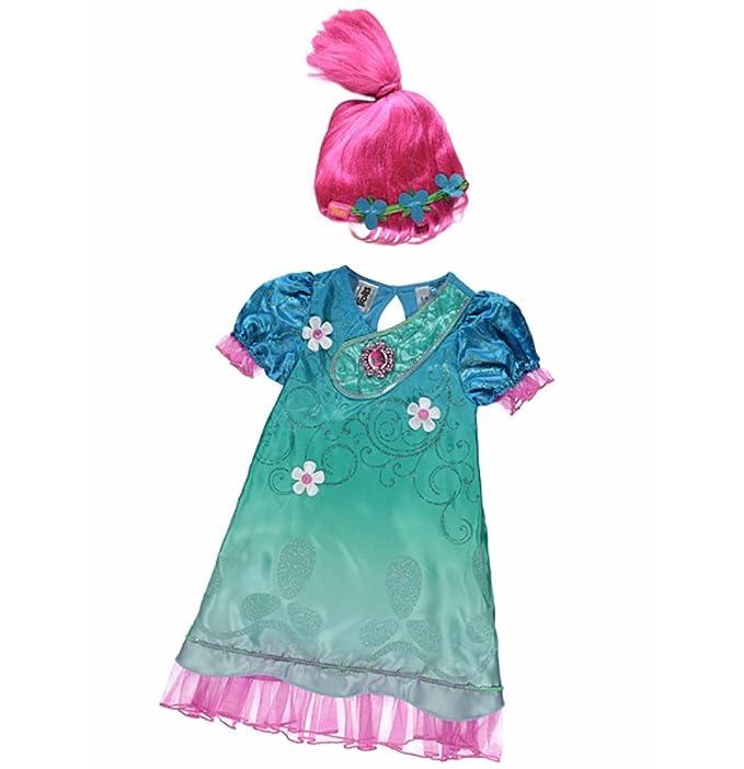 Disfraz de Poppy de Trolls con sonido Rosa rosa 7-8 Años