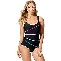 DELIMIRA Women's Sexy Beachwear One Piece Slimming Swimsuit Bathing Suit