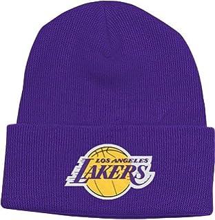 newest b64a7 92c14 NBA adidas Men s Los Angeles Lakers Cuffed Knit Beanie Hat