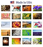 QUOTES postcard set of 20. Post card variety pack with famous quote postcards. Made in USA.
