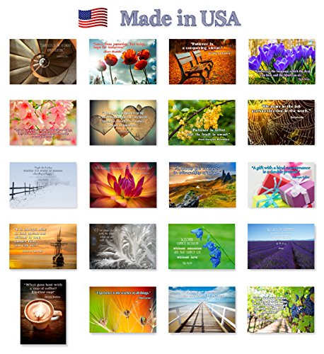 QUOTES-postcard-set-of-20-Post-card-variety-pack-with-famous-quote-postcards-Made-in-USA