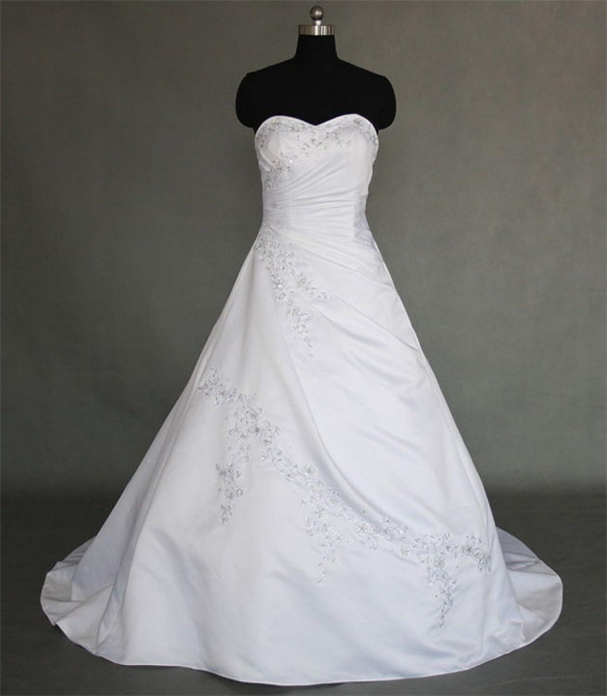 Schmetterling trägerloses Brautkleid Damen in weiß Modell Amelie ...