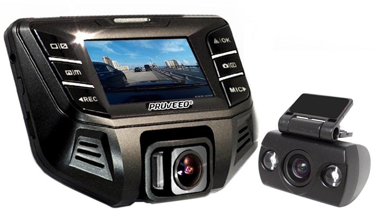Pruveeo S500 Pruveeo S500 dual lens dash cam pro with SONY EXMOR IMAGE SENSOR. 1080P+480P 170 Degree Wide Angle Night Vision Dash Camera