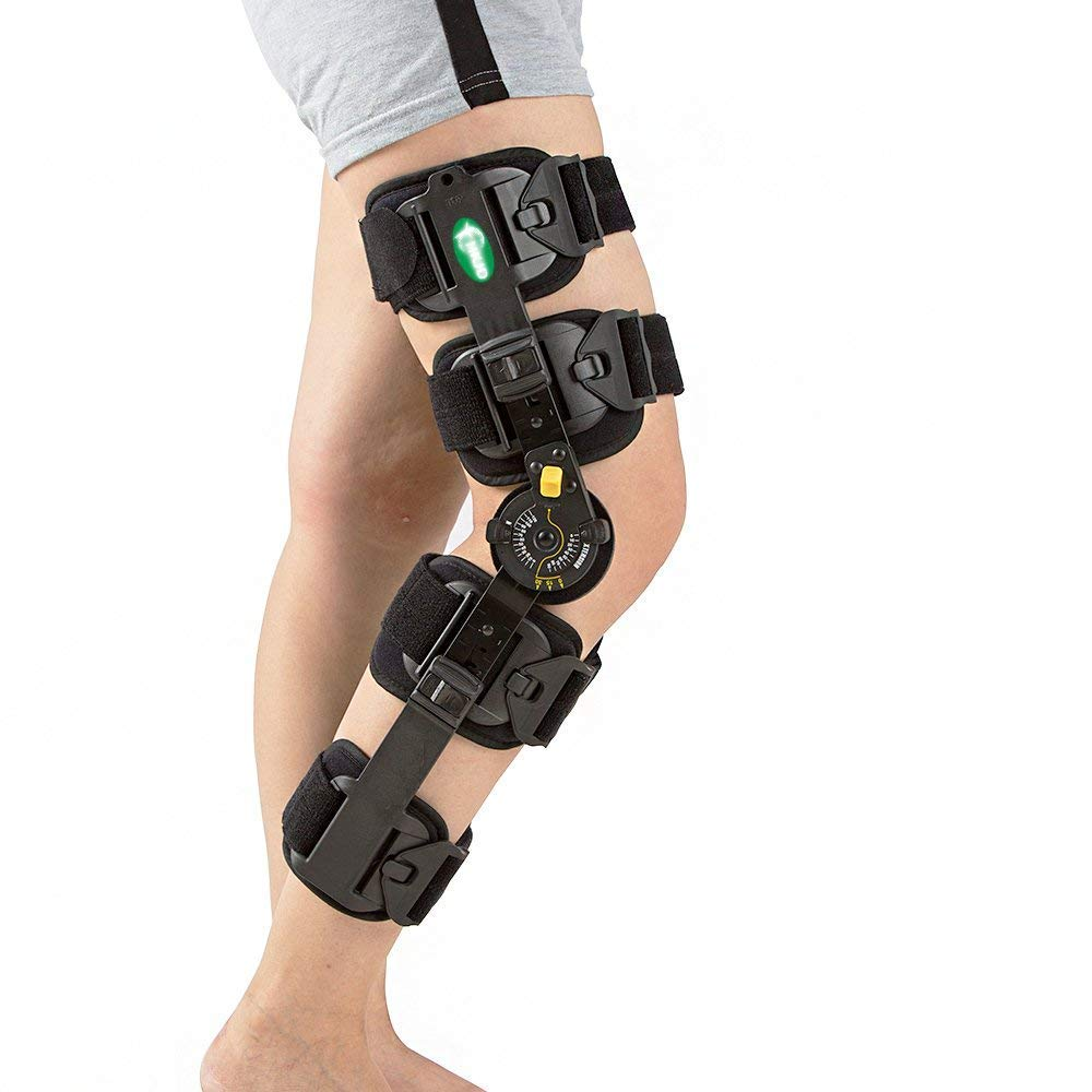 ec9c088002 Amazon.com: Hinged Knee Brace Support Rom Knee Brace Adjustable Patella  Knee Brace Knee Support Medical Knee Brace Stabilizer with FDA Adjustable  for Right ...