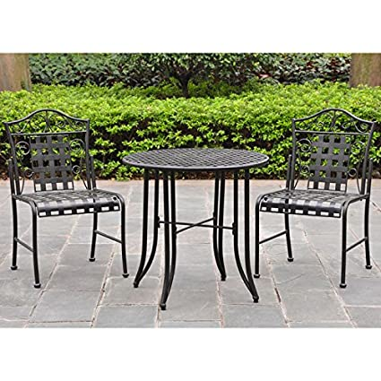 Amazoncom Mandalay Wrought Iron Patio Bistro Set Dining Tables