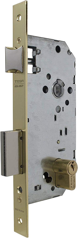 Tesa Assa Abloy 203050HN Cerradura De Embutir Para Puertas De Madera, Entrada 50mm, Niquelado,: Amazon.es: Bricolaje y herramientas