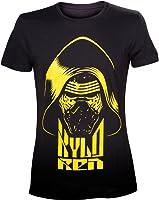 T-Shirt Star Wars Kylo Ren Face Jaune