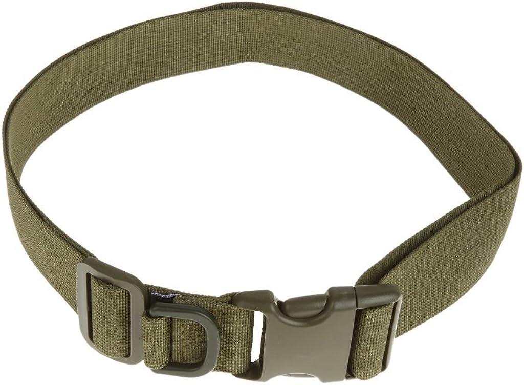mi ji Joyería 120cm ejército táctico del Lanzamiento rápido Rescate Militar Aparejador Correa del cinturón marrón - Verde del ejército, 150cm