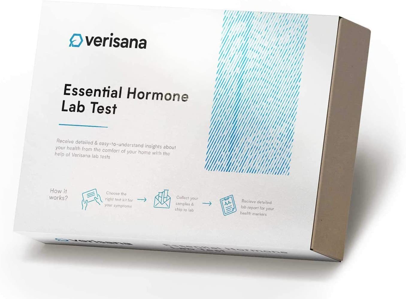 Essential Hormone Test – Check 3 Vital Hormones (E2, Pg & T) with a Simple Saliva Sample– at-Home Test Kit – Verisana