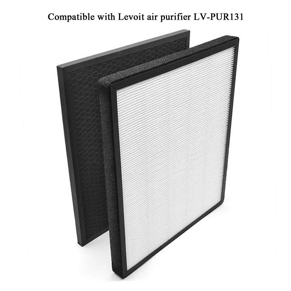 Leepesx Filtre Filtre au Charbon Actif Compatible avec Le purificateur dair Levoit LV-PUR131