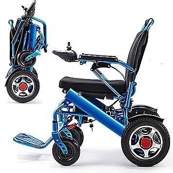 La silla de ruedas eléctrica ligera de aleación de aluminio plegable es cómoda y no llena