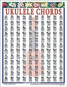 ukulele chords chord chart uke mini music walrus productions poster printable amazon laminated charts sheet sizes samash easy different guitar