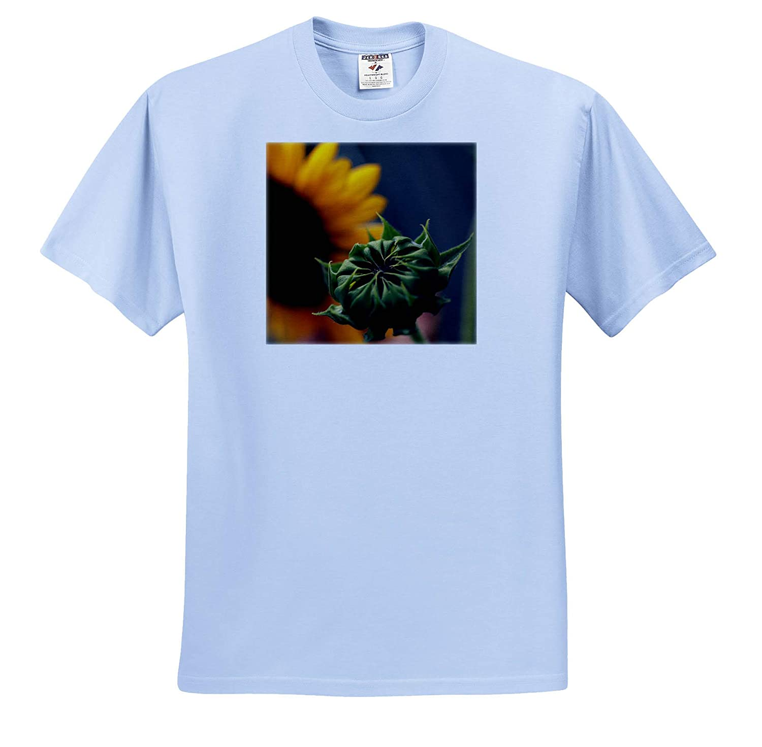 3dRose Stamp City Macro Photograph of a Closed Sunflower Waiting to Open - Adult T-Shirt XL Flowers ts/_320176