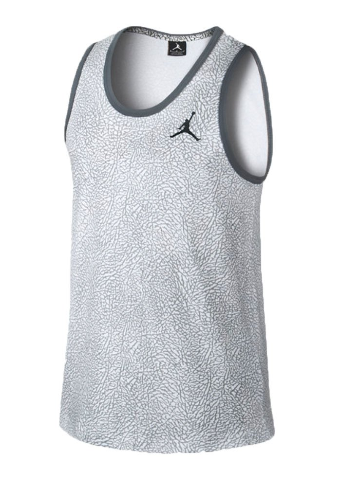 Amazon.com: Jordan Fly Elephant Print Men's Tank White/Black 602832-102  (Size S): Sports & Outdoors