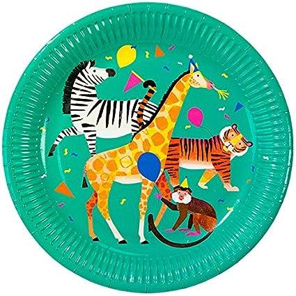 starbakery Mesa Decoración Grandes Papel Platos Animales De ...