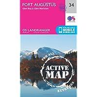 Fort Augustus, Glen Roy & Glen Moriston (OS Landranger Map)