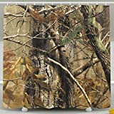 Realtree Pink Camo Shower Curtain FaceTi Realtree Camouflage Camo Home Polyester Shower Curtain Waterproof Bathroom Decor Sets with Hooks 60x72 Inch
