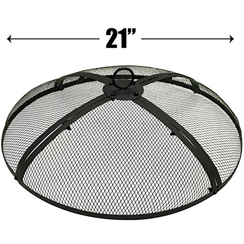 (EasyGo 21 INCH Round FIRE Screen - FIRE Pit Cover - FIRE Screen Protector)