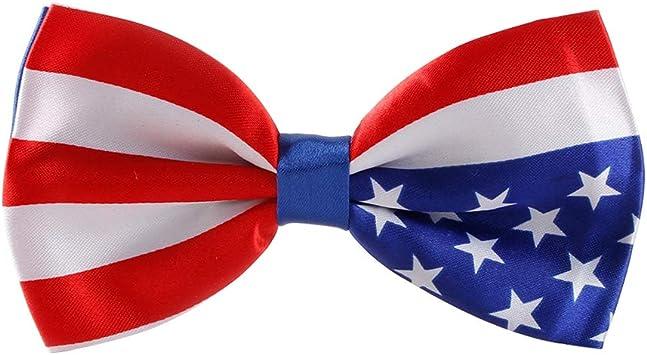 Amosfun Corbata de moño patriótica de Bandera Estadounidense ...