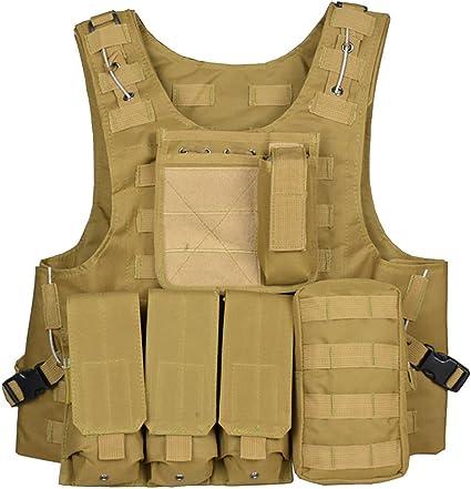 ThreeH Chaleco t/áctico Equipo militar modular Chaleco protector de juegos de campo para la caza