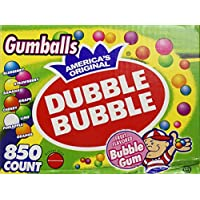 """Dubble Bubble-Gumballs 1 """"en paquete de variedad de diámetro, 850 Gumballs"""