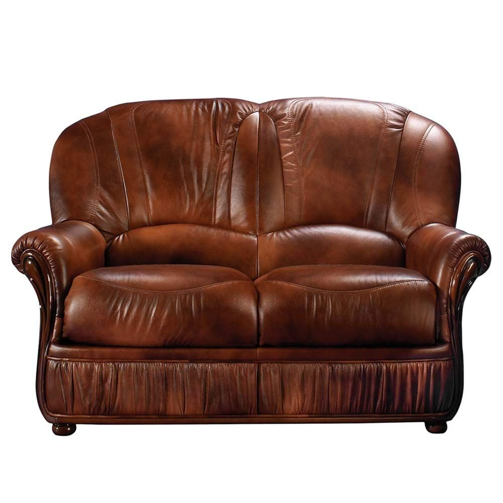 Amazon.com: Luca Home Brown Loveseat: Kitchen & Dining