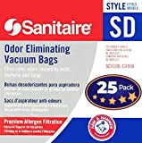 Electrolux Sanitaire SD Odor Eliminating Vacuum Bags 25 Pack. Genuine Professional Quality, Long-Life Allergen Filters with Arm & Hammer Baking Soda. Model 63262 Fits SC9100 S9120 SC9150 SC9180 C4900