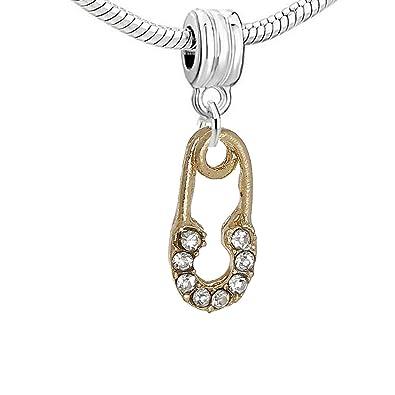 9ad758e16 Amazon.com: SEXY SPARKLES Safety Pin Dangle Charm Bead for Snake ...