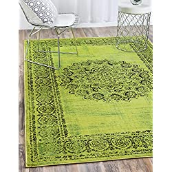 Unique Loom Imperial Collection Modern Traditional Vintage Distressed Sage Green Area Rug (4' x 6')