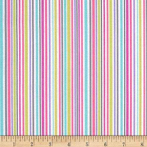 Michael Miller Zoo Littles Girls Things Slender Stripe Pink Fabric