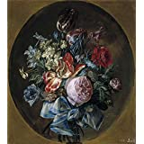 Canvas Prints Of Oil Painting ' Paret Y Alcazar Luis Ramillete De Flores (II) Ca. 1780 ' , 8 x 9 inch / 20 x 23 cm , Polyster Canvas Is For Gifts And Bed Room, Home Theater And Kids Room Decoration