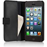 Pipetto iPhone 5/5S / SEClassic Leather - Folio Wallet Case - Flip Cover - Black (Compatible with iPhone 5, iPhone 5S, iPhone SE)