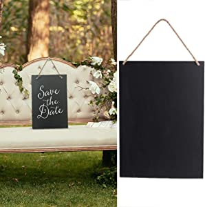 Wedding Chalkboard Signs,20x30x0.5cm Hanging Wood Chalk Message Boards Erasable Decorative Rectangle Chalkboard for Kitchen Pantry Wall Decor(1 PC)