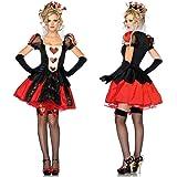 【ノーブランド品】ハロウィーン コスプレ衣装 不思議の国のアリス Alice in Wonderland ハートの女王 コスチューム仮装 ディズニー 女王様 red queen ハロウィーン衣装 大人