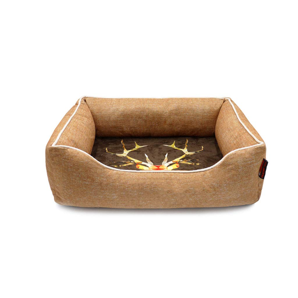Brown M 655219cm Brown M 655219cm D_HOME Dog Kennel, Cat Litter, Winter, Cat House, Warmth, Pet House, Pet Nest, Four Seasons Universal, Removable And Washable, Small And Medium Dogs, Cat Beds,(Brown)