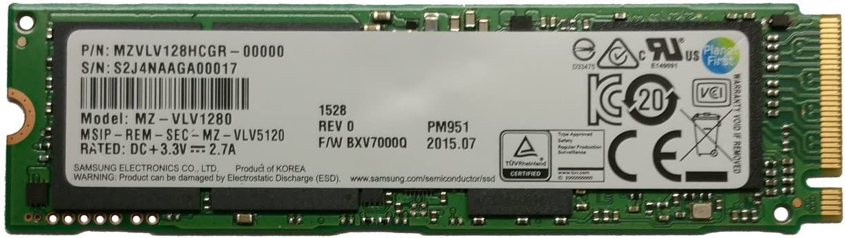 Samsung PM951 128 GB PCI Express 3.0 M.2 - Disco Duro sólido (128 ...