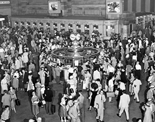 Posterazzi SAL2553543LARGE High Angle View of a Group of People at a Railroad Station Grand Central Terminal Manhattan City New York USA Poster Print, 24 x 36 ()