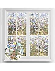 Rabbitgoo Window Film 3D No Glue Static Decorative Films Glass Window Film Anti UV, Dazzling Effect, 90 X 200 Centimeters, (35.4 x 78.7 inches)