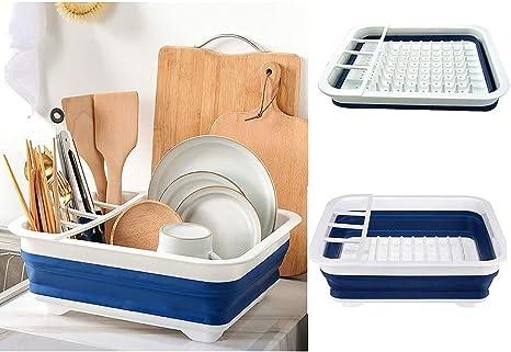 Lavavajillas plegable avanzado, lavaplatos plegable duradero, ahorro de viajes, camping, saneamiento de la tienda y espacio práctico