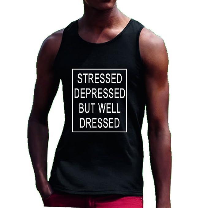 Estrés Hundido pero bien vestido chaleco T Camiseta Playa Tumblr Hipster Dope Negro negro: Amazon.es: Ropa y accesorios