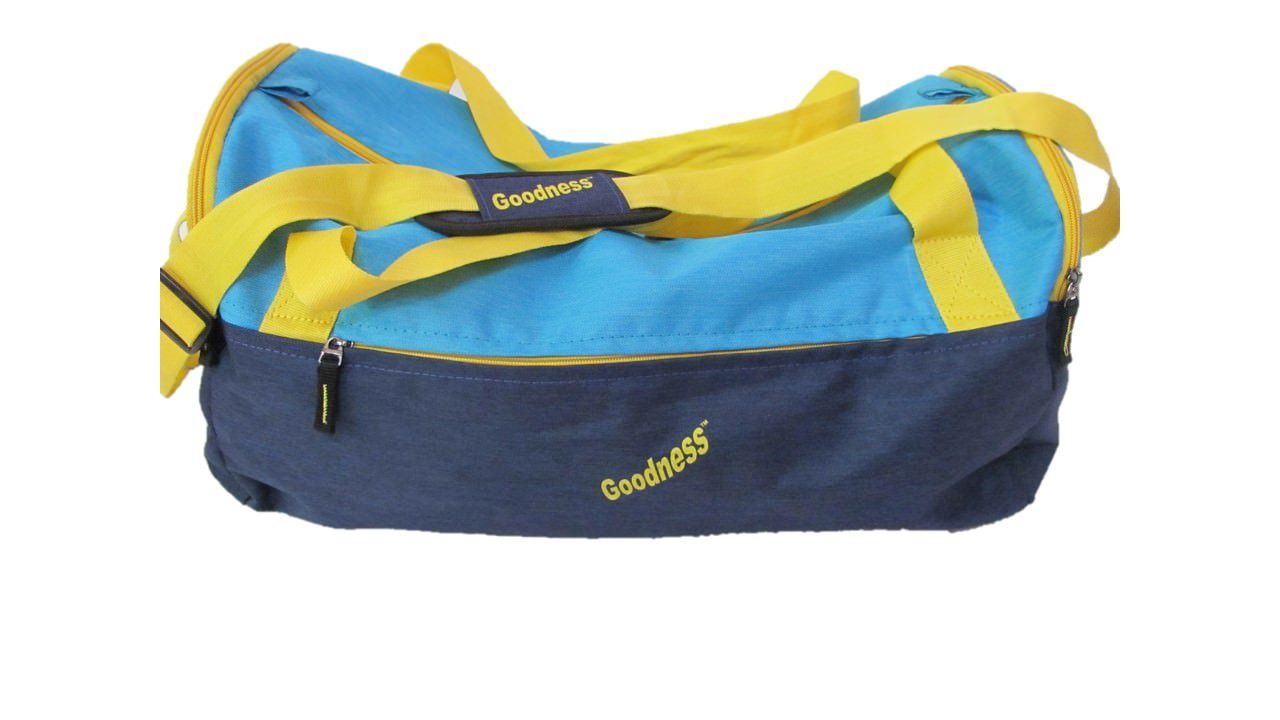 Goodness Bags - 51 cm Water Proof Polyester Pu Coated Blue Travel Duffel Luggage Bag, Duffel Bag, Travel Duffel Bag, Air Bag - Star