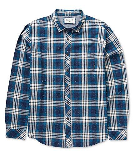 (Billabong Men's Jackson Woven Short Sleeve Shirt, Navy Small)