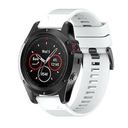 para Garmin Fenix 5X Reloj GPS,Reemplazo de Silicagel Correa de Banda de Instalación Rápida